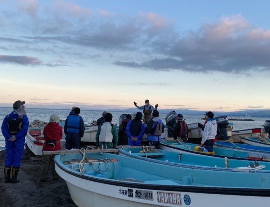 北海道レンタル釣り船黄金マリン出航前風景