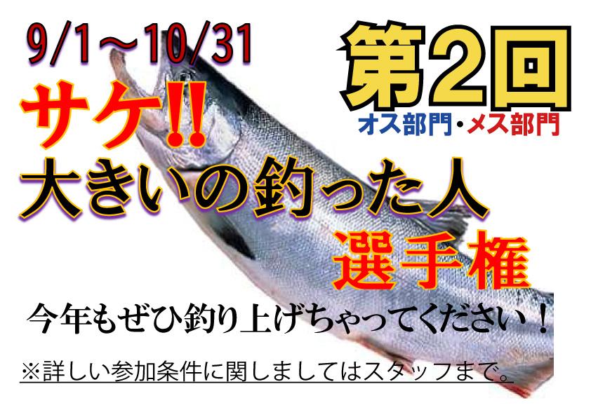 伊達噴火湾の釣り船レンタルコガネマリン2021年秋のイベント「サケ!大きいの釣った人選手権」
